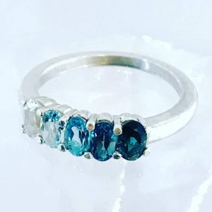 Ocean Blue Ombre Ring