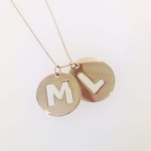 Double Cut Out Initials