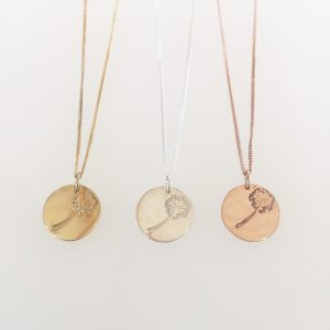 Dandelion Disc Necklace