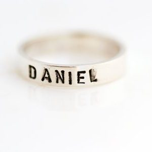 Solid Name Ring