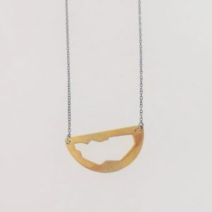 Brass Cut Out Necklace