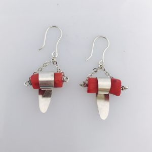 Coral Wrap Earrings