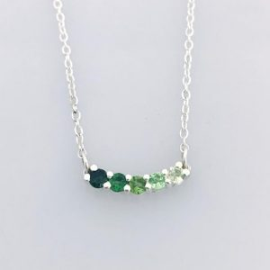 Round Forest Green Ombre Necklace