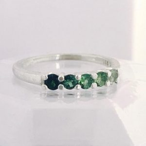 Round Forest Green Ombre Ring