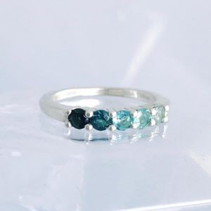 Round Sea Foam Ombre Ring