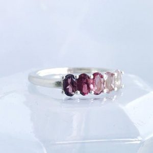 Pomegranite Ombre Ring