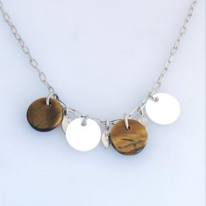 Tigers Eye Disk Necklace
