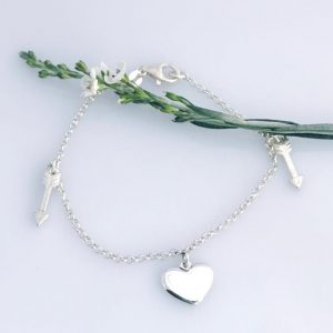 Heart And Arrow Charm Bracelet