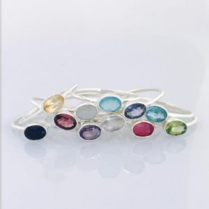 Oval Gemstone Rings