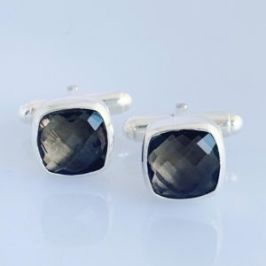 SMOKEY QUARTZ CUFFLINKS