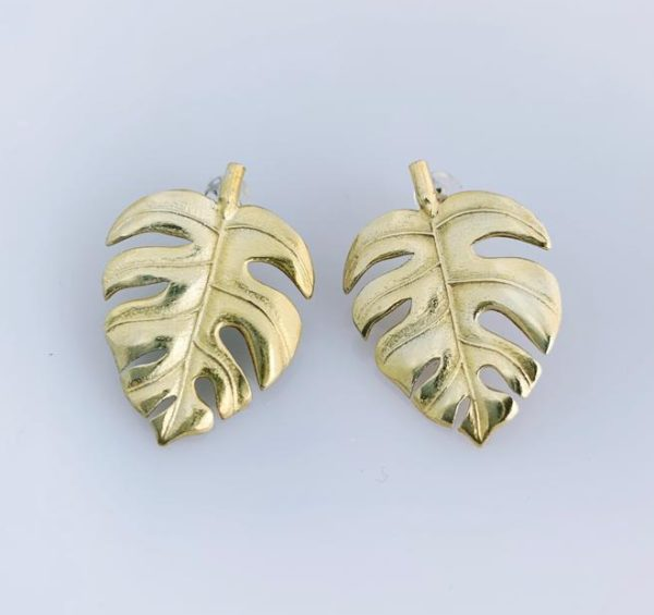 Yellow Gold Delicious Monster Studs