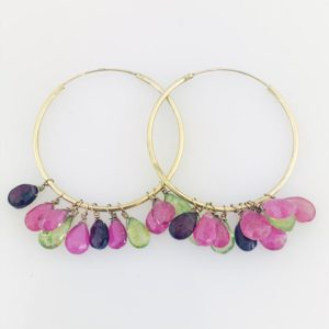 Gypsy Yellow Gold Hoop Earrings