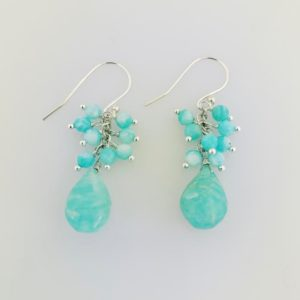Dangle Amazonite Earrings