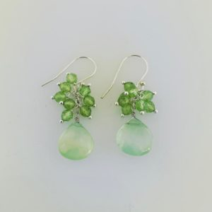 Dangle Peridot Earrings