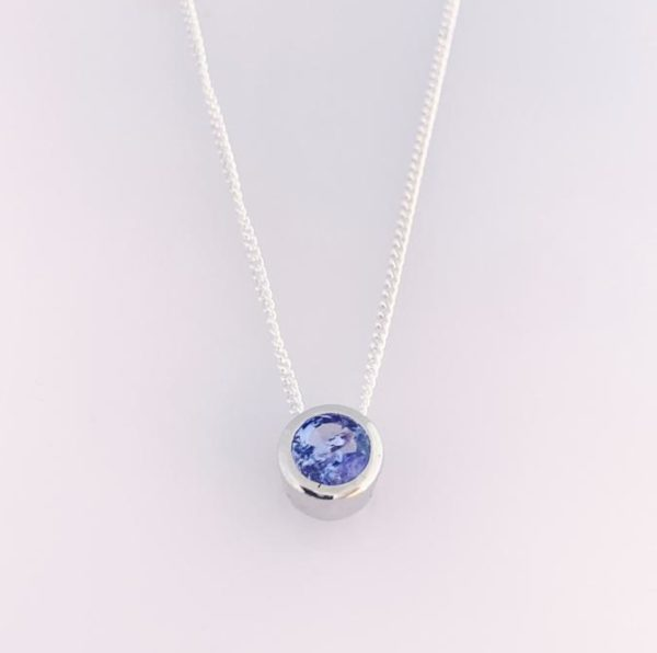 Tanzanite Gemstone Necklace