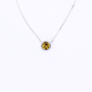 Citrine Slider Necklace