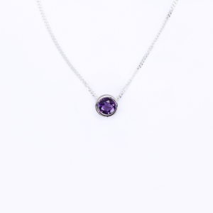 Amethyst Slider Necklace
