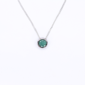 Emerald Slider Necklace