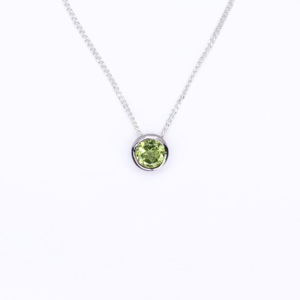 Peridot Slider Necklace