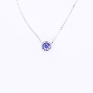 Tanzanite Slider Necklace