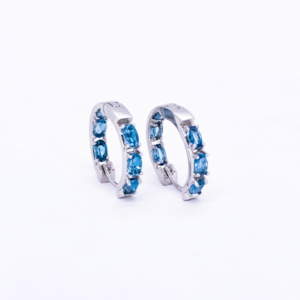 London Blue Topaz Huggies