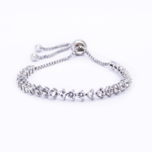 Clear Quartz Tennis Bracelet